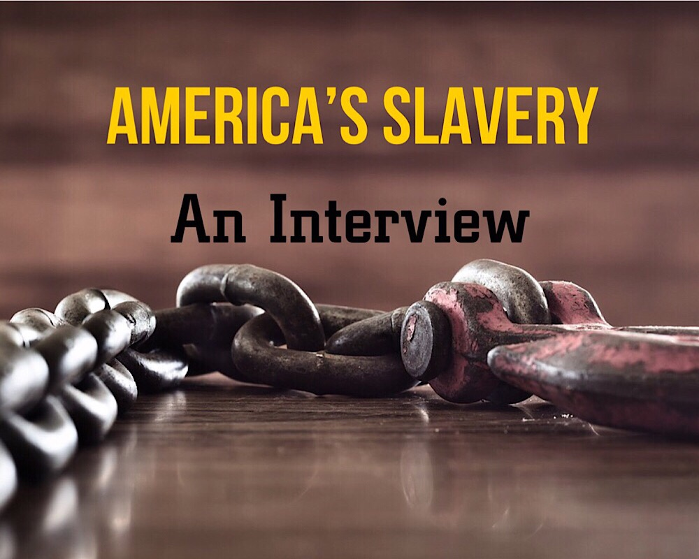 """America's Slavery Interview"" chain background"